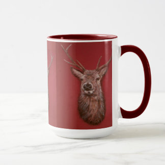 Contemporary Highland Red Deer Stag Mug