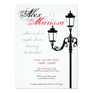 Contemporary Italian Lamp Post Invitation