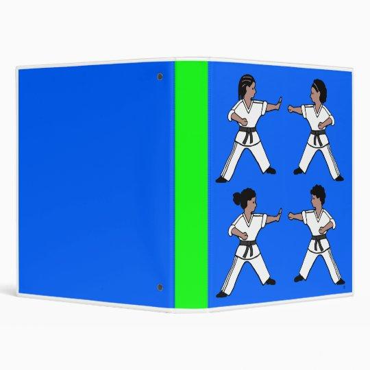 Contemporary Karate Kid African Amer Design Binder