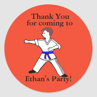 Contemporary Karate Kid Ethan customized stickers