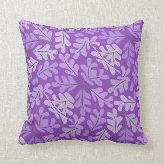 Contemporary Light Purple  Leaf Motif Throw Pillow