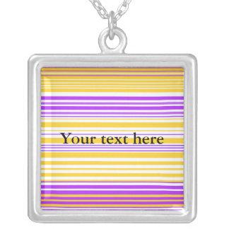 Contemporary light yellow and purple stripes pendants