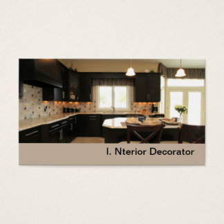 contemporary luxury kitchen business card