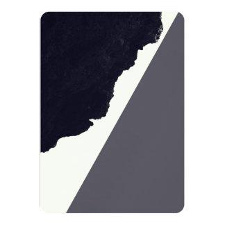 """Contemporary Minimalistic Black and White Art 5"""" X 7"""" Invitation Card"""