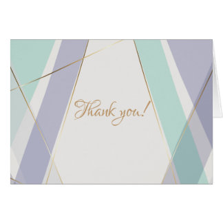 Contemporary Modern Geometric Stripes Mint Violet Card