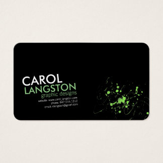 contemporary modern graphic designer business card
