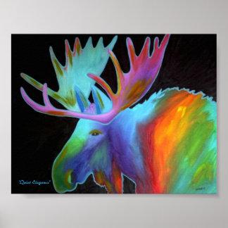 Contemporary Moose Print