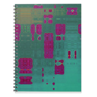 Contemporary MVB Abstract Blue Purple Notebook