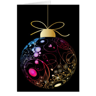 Contemporary Neon Lacy Ornament Card