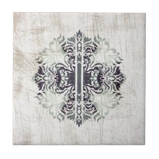 Contemporary Neutral Celtics Cross Hip Pattern Ceramic Tile