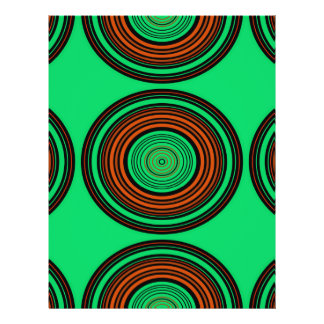 Contemporary orange and green circles custom flyer