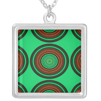 Contemporary orange and green circles jewelry