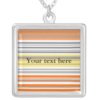 Contemporary orange and yellow horizontal stripes necklace