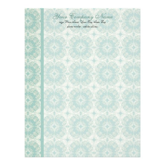Contemporary Pattern, Aqua Stationery Customized Letterhead