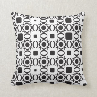 Contemporary Pattern Black and White Pillow