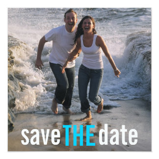 Contemporary Photo Save-the-date Announcement