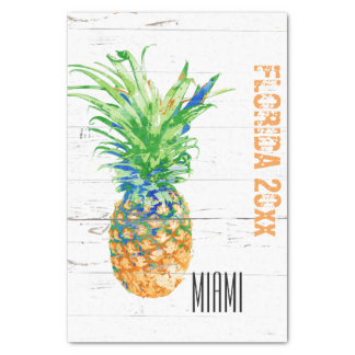 Contemporary Pineapple Add Year and Location Tissue Paper