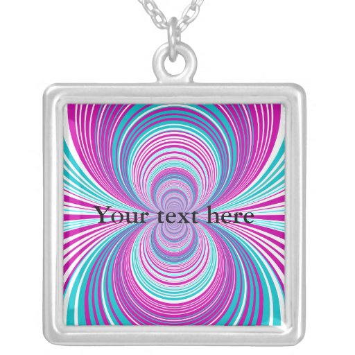 Contemporary pink and baby blue funnel pendant