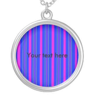 Contemporary pink gray stripes custom jewelry