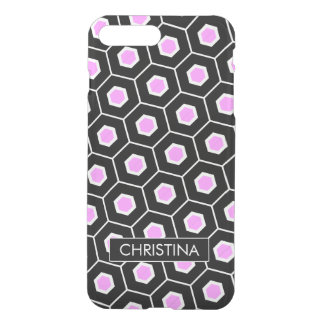 contemporary Pink honeycomb pattern iPhone 7 Plus Case