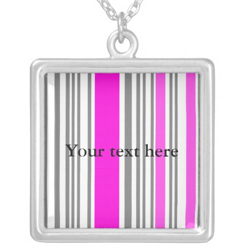 Contemporary pink stripes jewelry