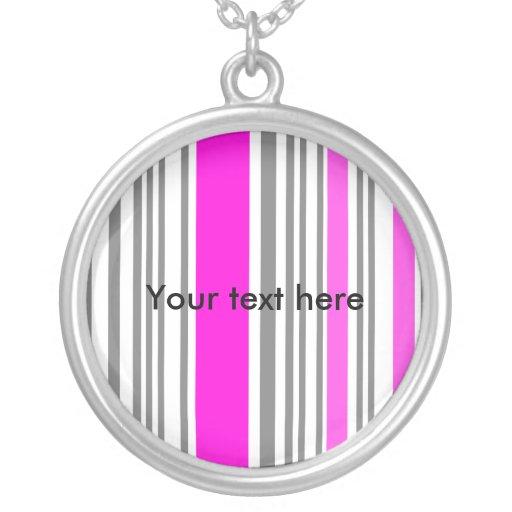 Contemporary pink stripes custom jewelry