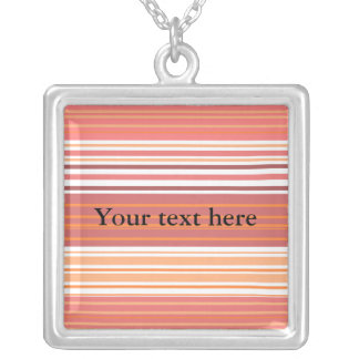 Contemporary pink white and orange stripes pendants
