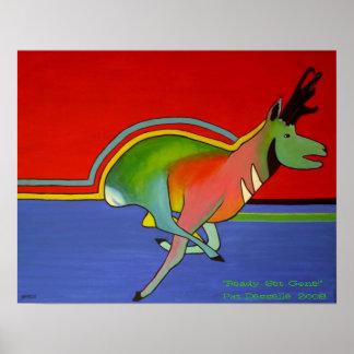 Contemporary Pronghorn Antelope Print