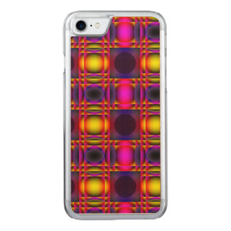 Contemporary Psychedelic Pink Checks Carved iPhone 8/7 Case
