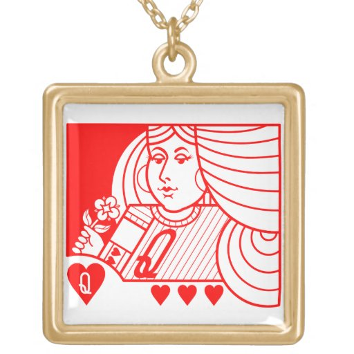 Contemporary Queen of Hearts Necklace (red)