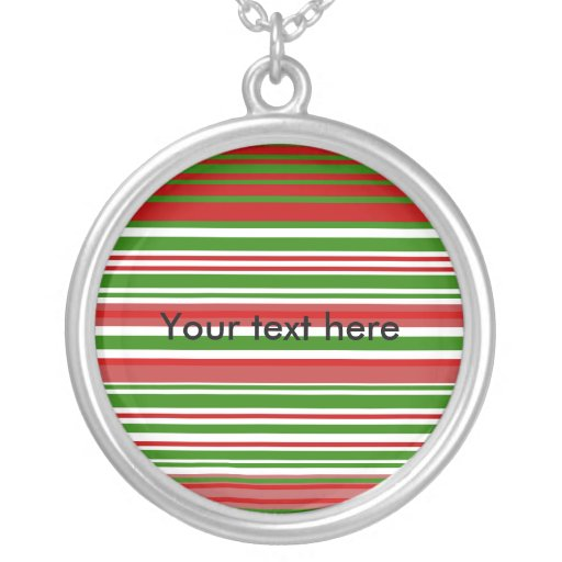 Contemporary red green and white stripes custom jewelry