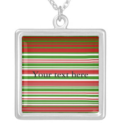 Contemporary red green and white stripes jewelry