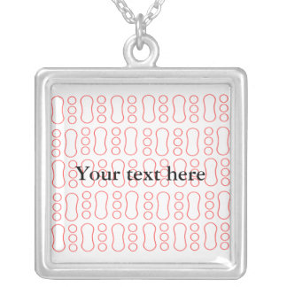 Contemporary red peanut pattern personalized necklace