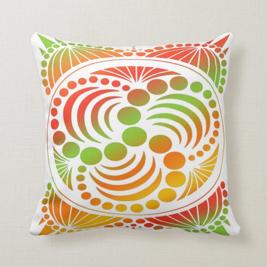Contemporary Retro Design Throw Pillow