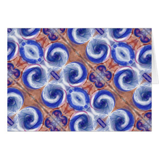 contemporary rolling waves note card exquisite