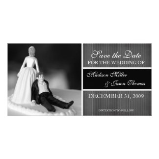 Contemporary Save the Date Announcement Photo Greeting Card