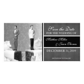 Contemporary Save the Date Announcement Picture Card
