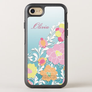 Contemporary Sculpted Floral OtterBox Symmetry iPhone 8/7 Case
