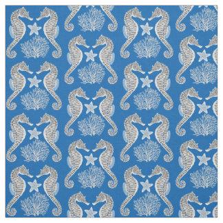 Contemporary Sea Life Seahorse Fabric