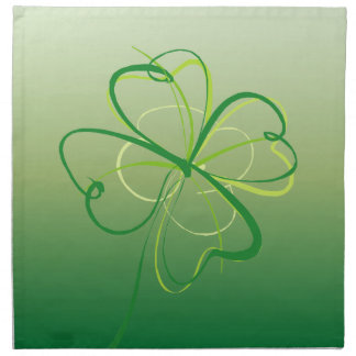Contemporary Shamrock Napkin