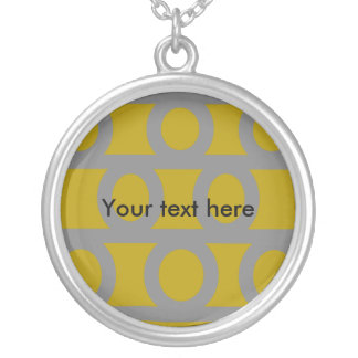 Contemporary silver circles on gold personalized necklace