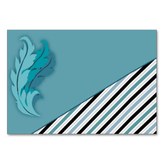 Contemporary Stripes and Feathers Card