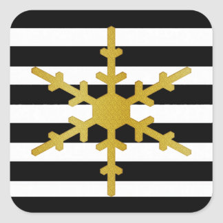 Contemporary Stripes and Snowflake Stickers