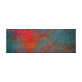 Contemporary Teal and Orange Abstract Canvas Print