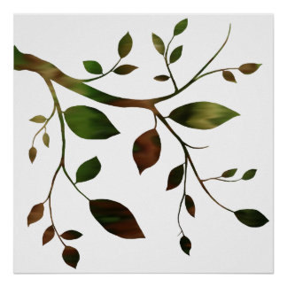 Contemporary Tree Branch Poster