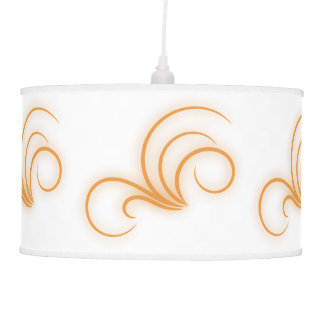 Contemporary Trendy Swirl and Curl Pendant Lamp