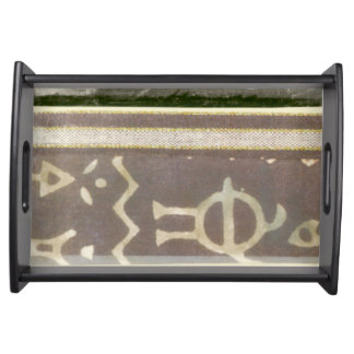 Contemporary Tribal Pattern Painting Service Tray