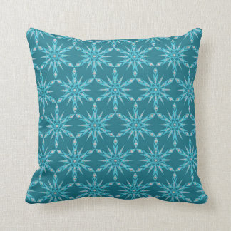 Contemporary Turquoise & Teal Diamond Pillow