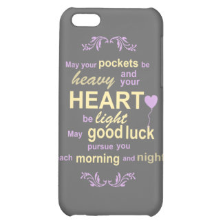 Contemporary Typography Irish Blessing in Gray Cover For iPhone 5C