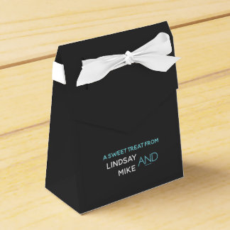 Contemporary Typography Sweet Treat Favor Box